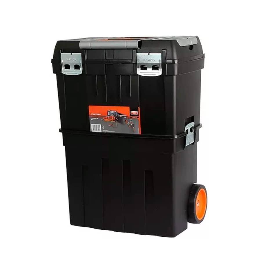 Caja con ruedas porta herramientas bahco de 2 cuerpos for Cajas plasticas con ruedas